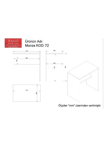 Sanal Mobilya Monza Çalışma Masası 72 Cm Beyaz